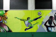 School gym - detail 3: soccer - by WIZ ART