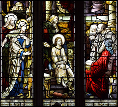 Mary and Joseph find the young Christ teaching in the Temple (Heaton, Butler & Bayne)