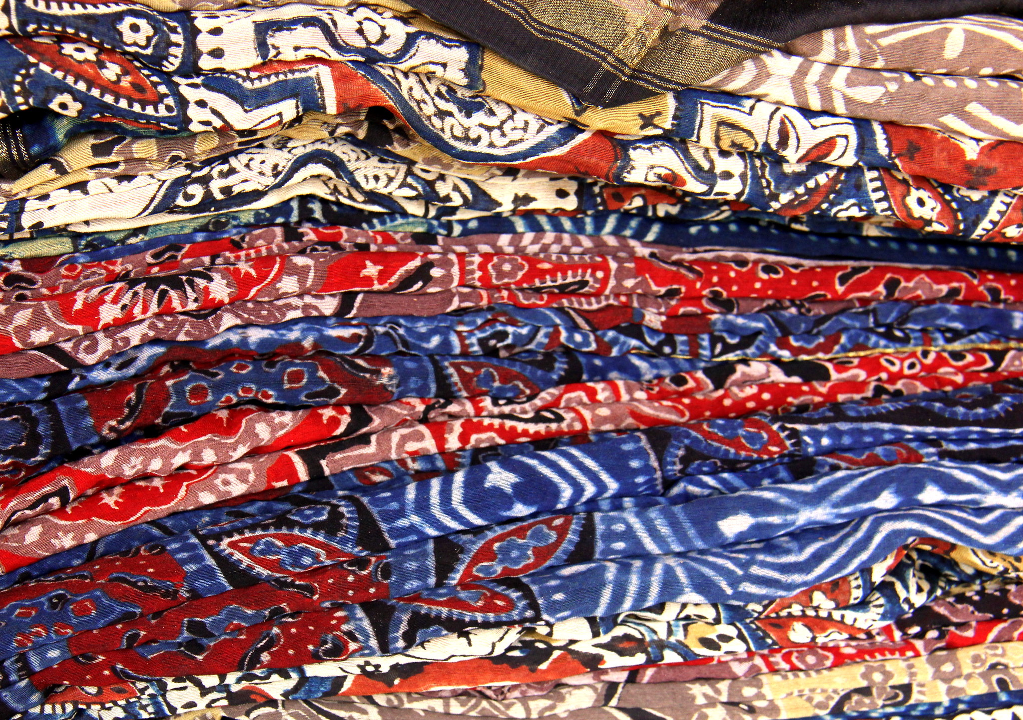 Ajrakh textiles on sale