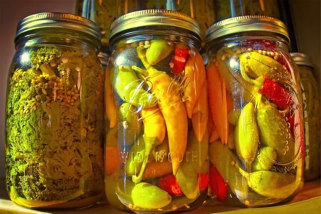 Pickle Jars on Shelf 6117 H