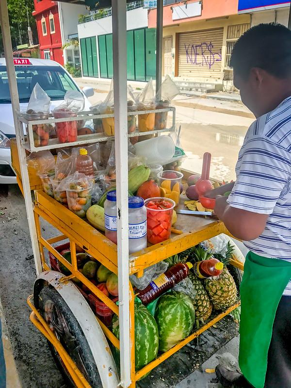 Fruit vendor, Tulum
