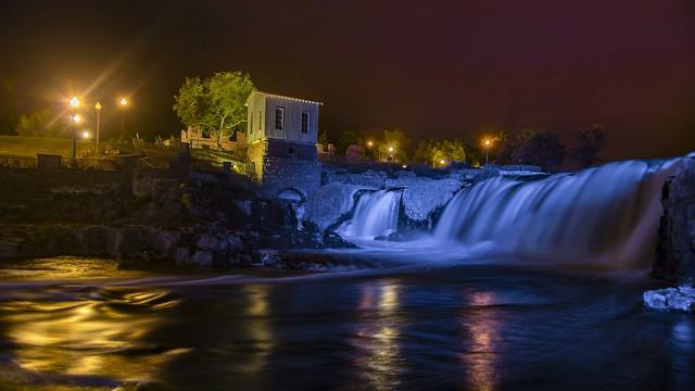 Night at the falls