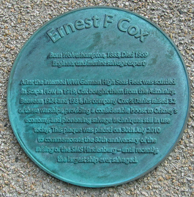Plaque at Lyness Ferry Terminal, Hoy, Orkney