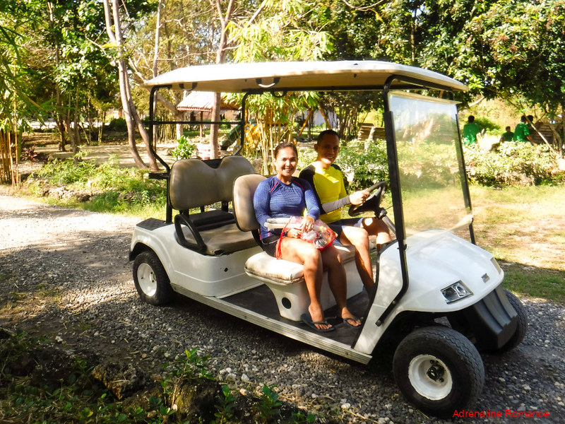 Golf Cart to go around the resort