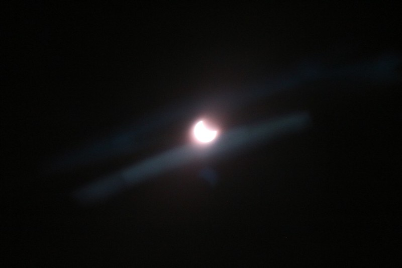 I tried out my mylar eclipse solar telescope filter over my camera lens but there was some internal reflection