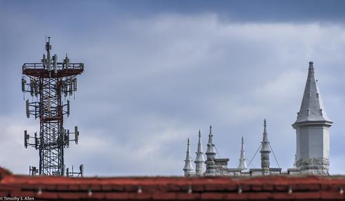 georgia newnan cellphonetower churchsteeple sky communications cell phone church tower