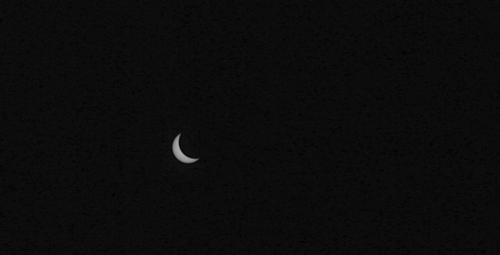 Eclipse in black and white. Copyright 2017 Jonny Eberle.