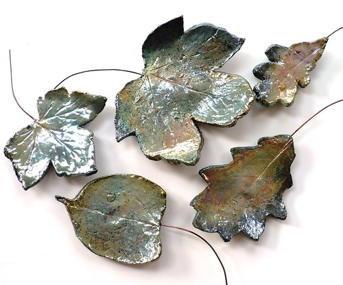 raku leaves wall art