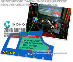 Daytona USA Dashboard Sticker. Restored Mikonos1