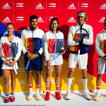 Angelique Kerber, Jo-Wilfried Tsonga, Garbine Murguza, Pharrell Williams, Alexander Zverev, Dominic Thiem