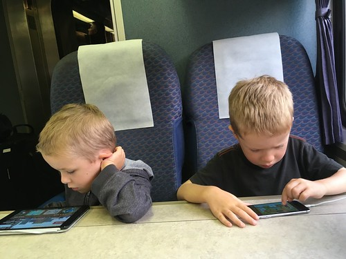Boys on Train to San Diego