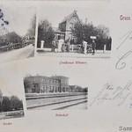 Trittau Postkarte mit Staatsbahnhof vor 1900