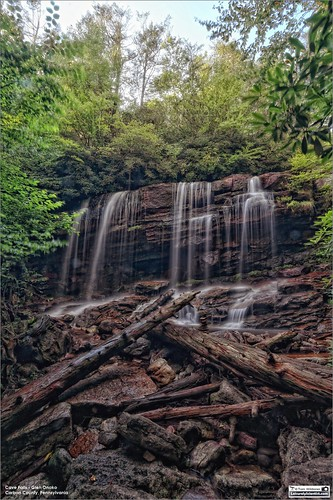 tomwildoner leisurelyscientistcom leisurelyscientist glenonoko glen onoko cavefalls water waterfalls flowing hdr carboncounty pennsylvania jimthorpe canon canon6d timelapse rocks trees leaves summer august 2017 tripod afternoon