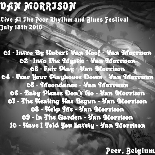 Van Poster Blues Festival - Peer, Belgium July 18th, 2010