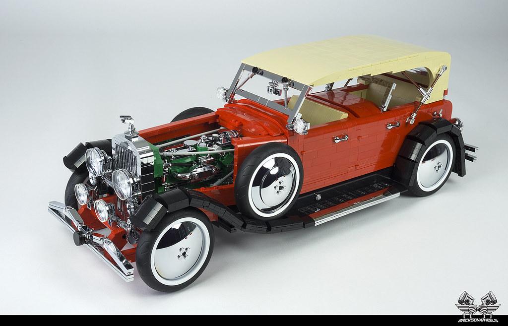 1935 Duesenberg SJ Dual Cowl Phaeton in LEGO (1:8.5)
