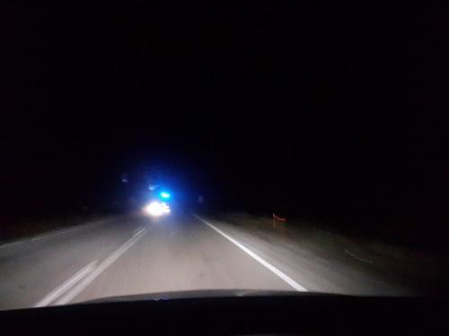 Kastamonbu, éjszaka, rendőrautó