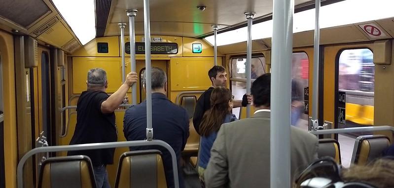 Brussels Metro interior