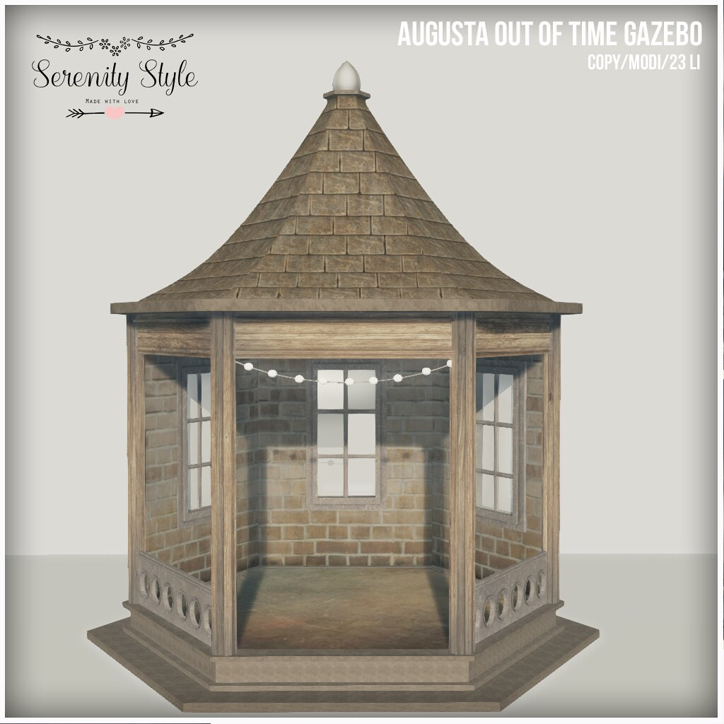 Serenity Style- Augusta Out of Time Gazebo - SecondLifeHub.com