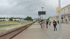 Train arrivel at Flers station