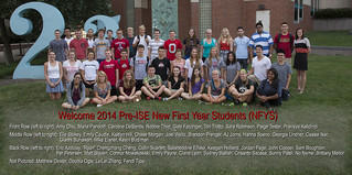 Welcome 2014 Pre-ISE New First Year Students (NFYS)