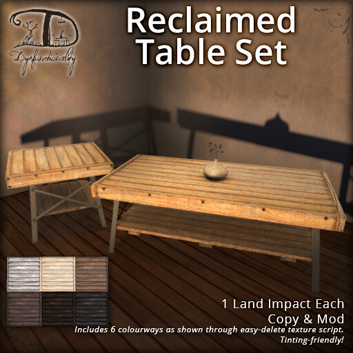 Reclaimed Table Set - TeleportHub.com Live!