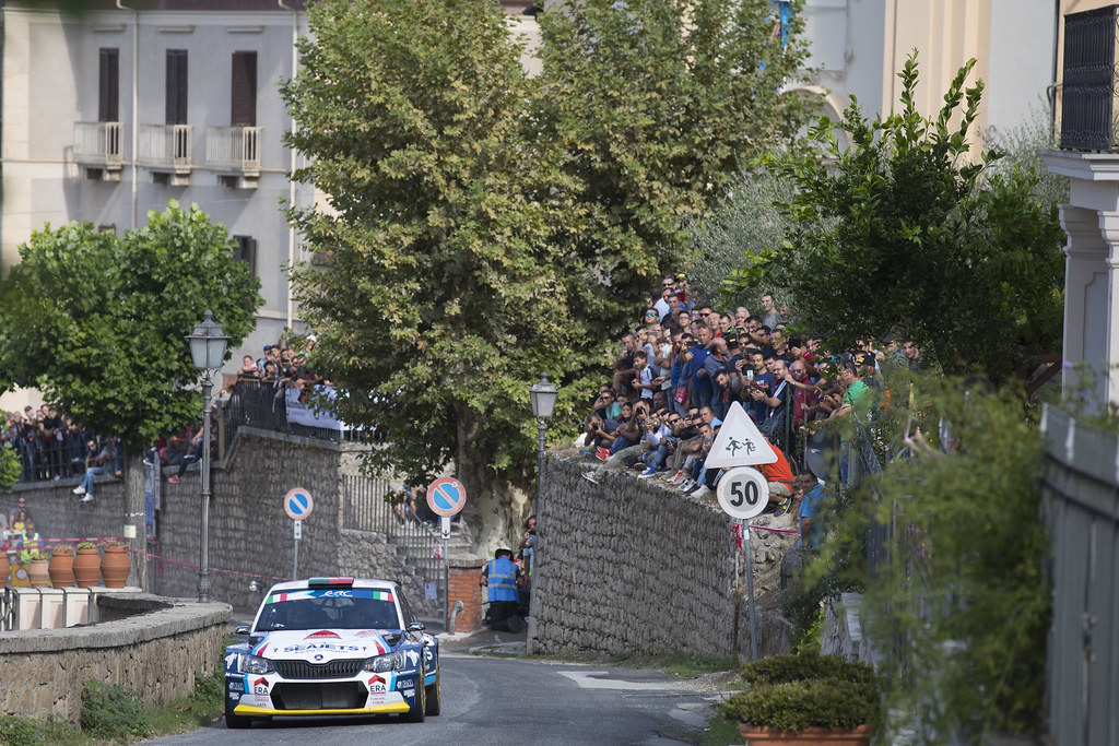 02 MAGALHAES Bruno (PRT)  MAGALHAES Hugo (PRT) Skoda Fabia R5 action during the 2017 European Rally Championship ERC Rally di Roma Capitale,  from september 15 to 17 , at Fiuggi, Italia - Photo Gregory Lenormand / DPPI