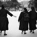 Nuns.  Retiro Park.  Madrid