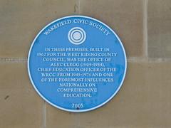 Photo of Alec Clegg blue plaque
