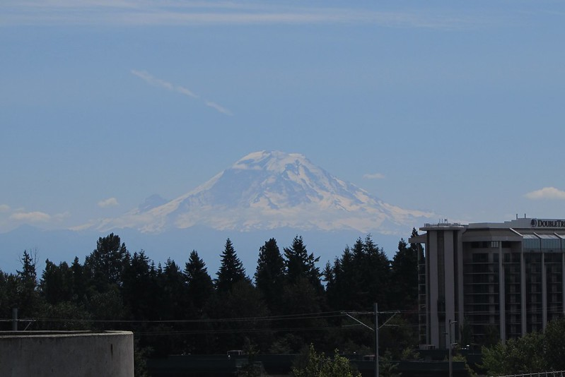 Mt Rainier from Seattle's terminal top parking lot