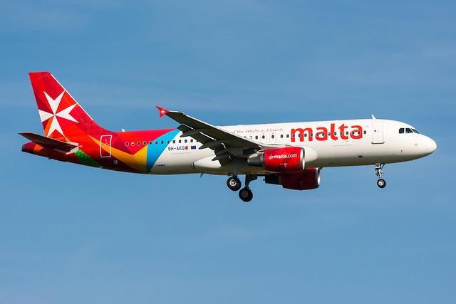 9H-AEQ - Air Malta - Airbus A320-214