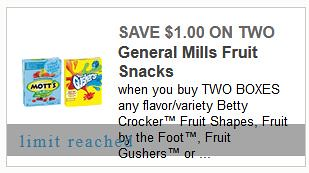 photo regarding Meijer Printable Coupons identified as 0.49 Package upon Betty Crocker Fruit Treats at Meijer with