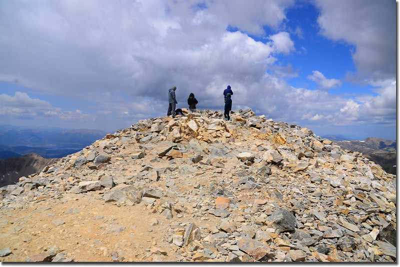 The summit of Grays Peak