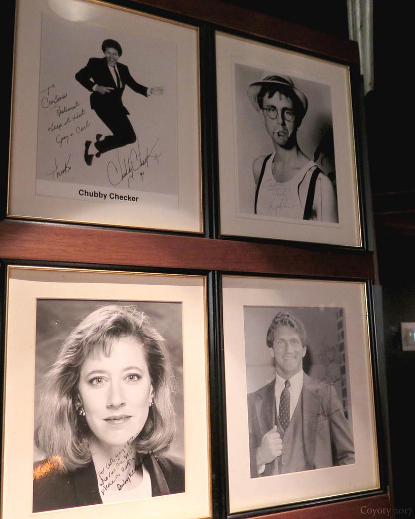 Autographed celebrity photos