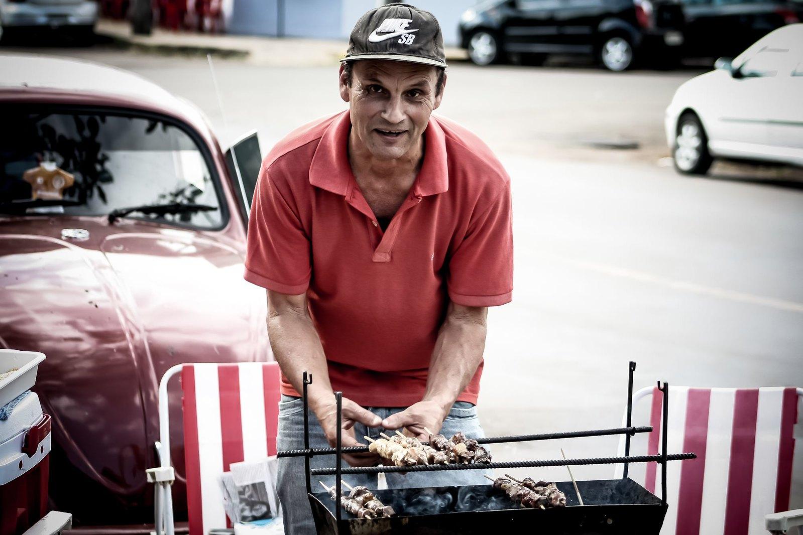 Os espetinhos de carne do Paulo Daltoé