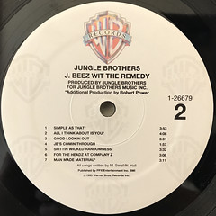 JUNGLE BROTHERS:J. BEEZ WIT THE REMEDY(LABEL SIDE-B)
