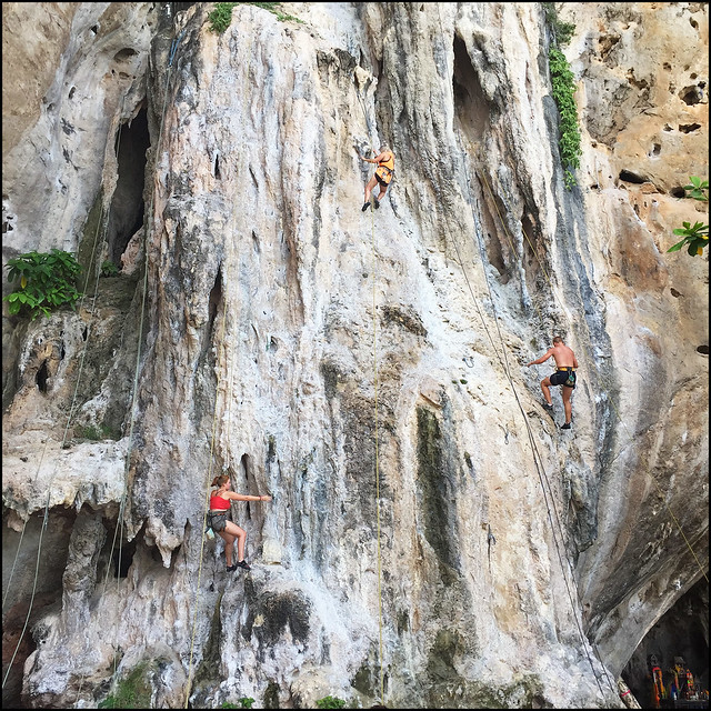 Rock Climbing at Phra Nang Beach