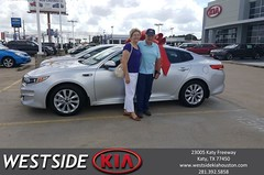 Congratulations Richard on your #Kia #Optima from Rubel Chowdhury at Westside Kia!