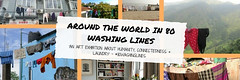 An exhibition using the universal image of the washing line, from 80 different countries, highlighting similarities between as humans :)