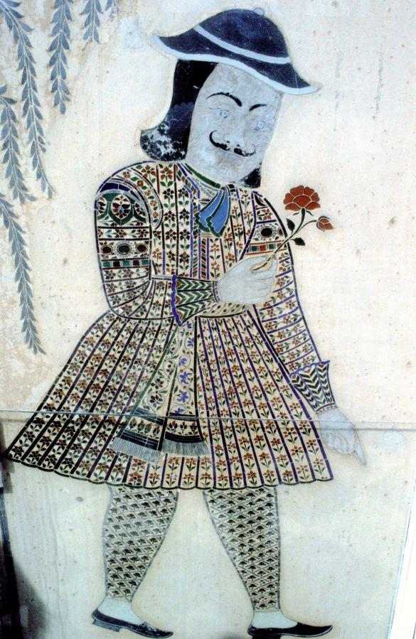042-1MuurschilderingOpHaveliIndia1995WaarschijnlijkPortretVanEenEuropeaan