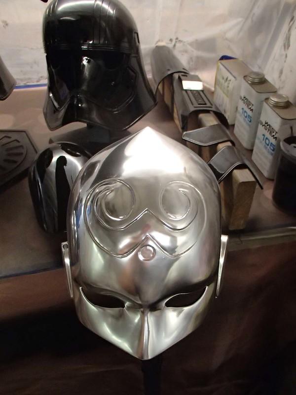 Chrome Helmet Face