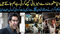 Wasim Akram celebrates the return of cricket to Pakistan World XI series bigger than just win-losing