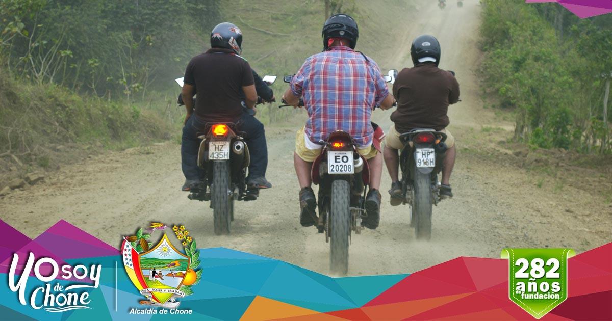 Todo listo para el recorrido de la moto aventura