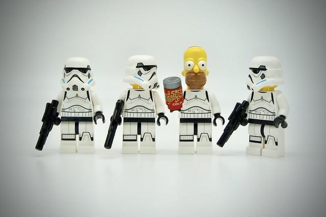 LEGO Stormtrooper Homer