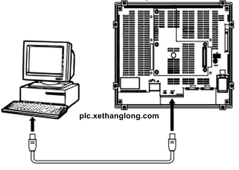 Kết nối PC và HMI Omron qua cổng USB trực tiếp