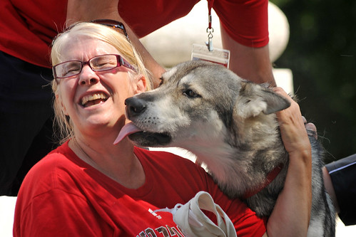 Tuffy shows his love for a Wolfpack fan at Packapalooza.