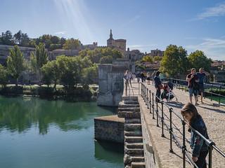 Pont Saint-Bénézet an der Petit Rhône, Kathedrale Notre-Dame, Avignon