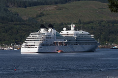Seabourn Cruise Line's ship Seabourn Quest; Holy Loch, Argyll & Bute