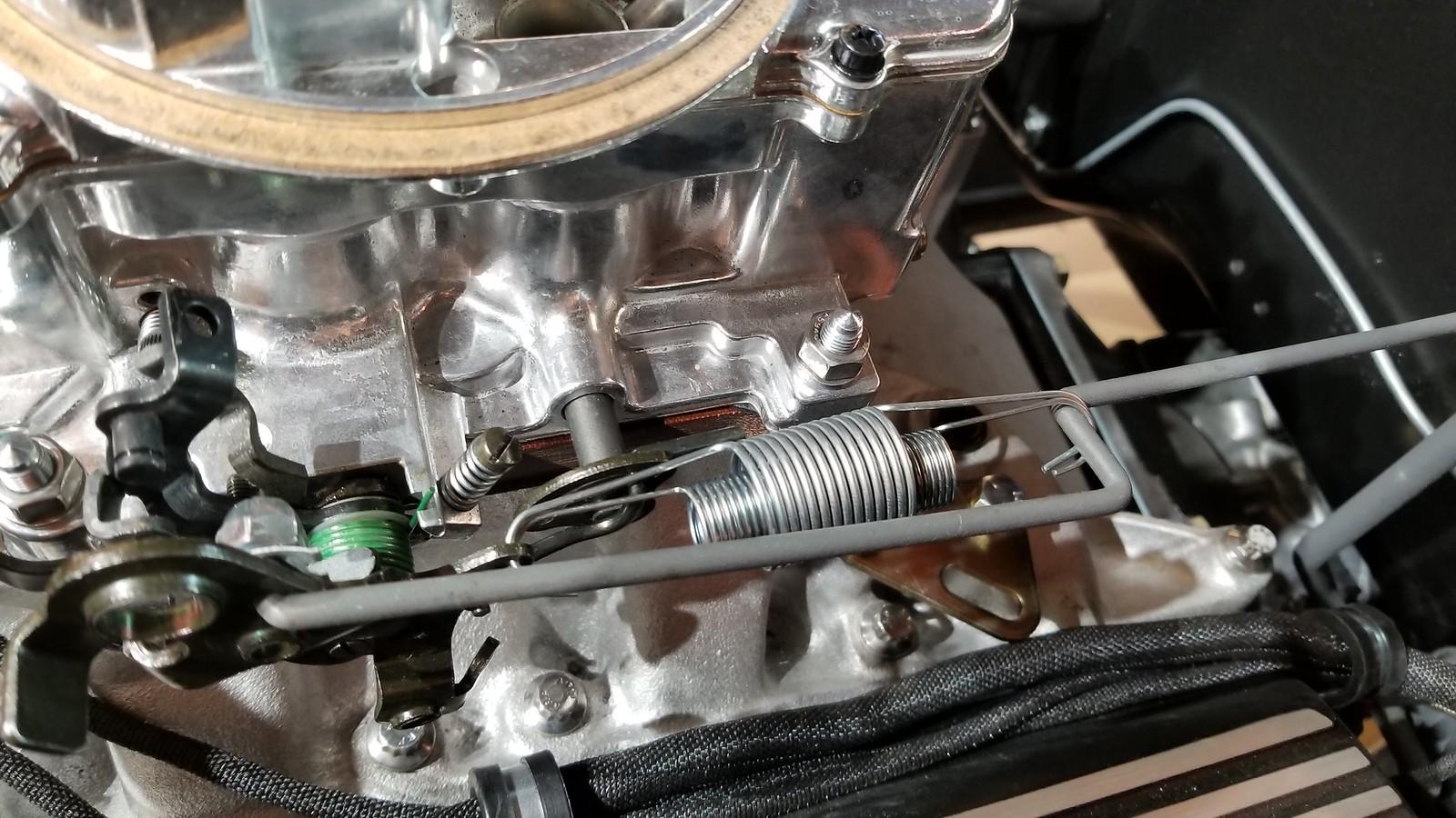 Throttle return spring geometry - Vintage Mustang Forums