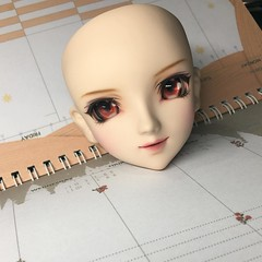 Working on her Rise Kujikawa #dollstagram #dollfiedream #faceupbyladious #photobyladious #faceup #ladious