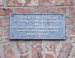 Photo of Harriet Martineau grey plaque